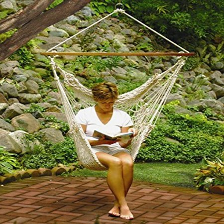 Algoma Chair (Algoma Hanging Cotton Rope Net Hammock Chair for Trees Porches Patios and)