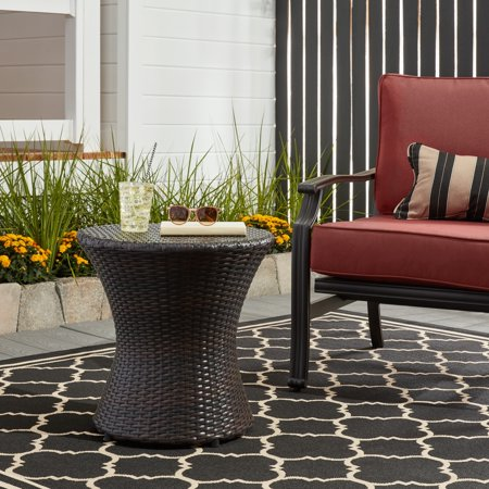 Home Loft Concepts Tangiers Wicker Side Table ()