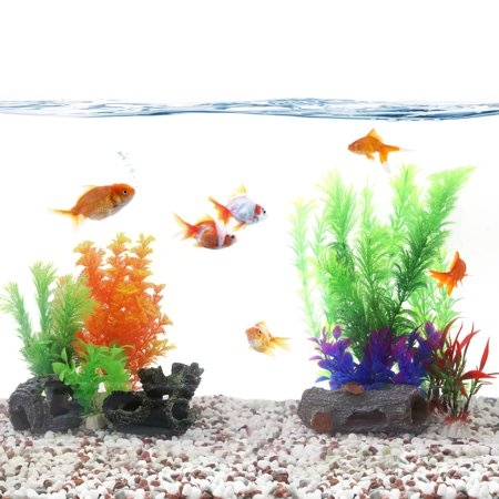 Aquascape aquarium decoration artificial plastic plant for for Aquarium decoration for goldfish