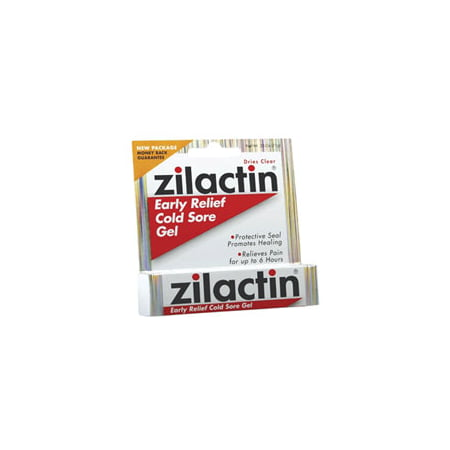 Zilactin Cold Sore Gel, Medicated Gel - 0.25 Oz, 3 Pack