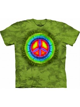 1d4055e6a2f9 Product Image Green 100% Cotton Peace Tie Dye Novelty T-Shirt