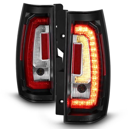 Fits 07-14 Chevy Suburban Tahoe Yukon XL Black LED Turn Signal Brake Tail Lights Chevy Caprice Turn Signal Light