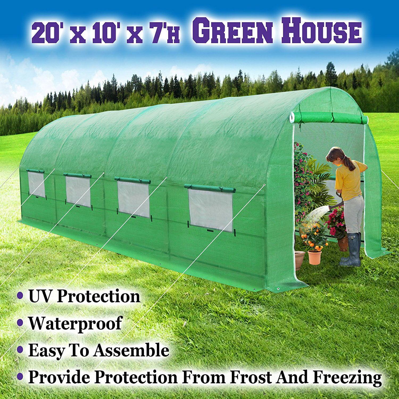 Sunrise 20'X10'X7' Large Walk In Outdoor Plant Gardening Greenhouse by Sunrise Umbrella Inc
