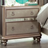 Coaster Company Bling Game Nightstand Platinum