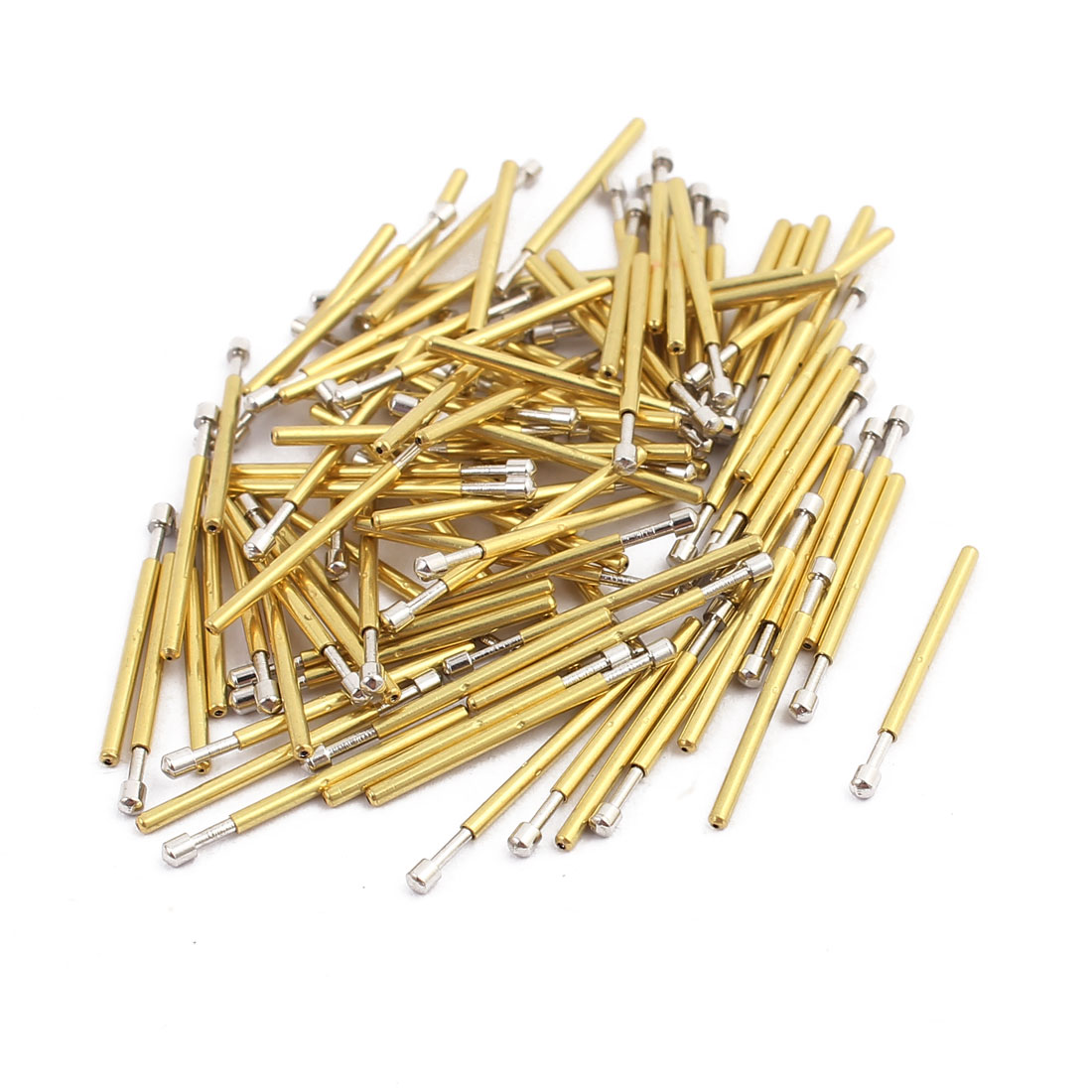 100pcs P75-D2 1.0mm Dia 17mm Length Metal Spring Pressure Test Probe Needle
