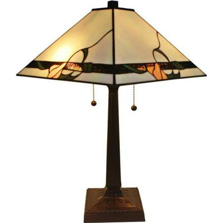 Amora Lighting AM057TL14 Tiffany Style Mission Design Table