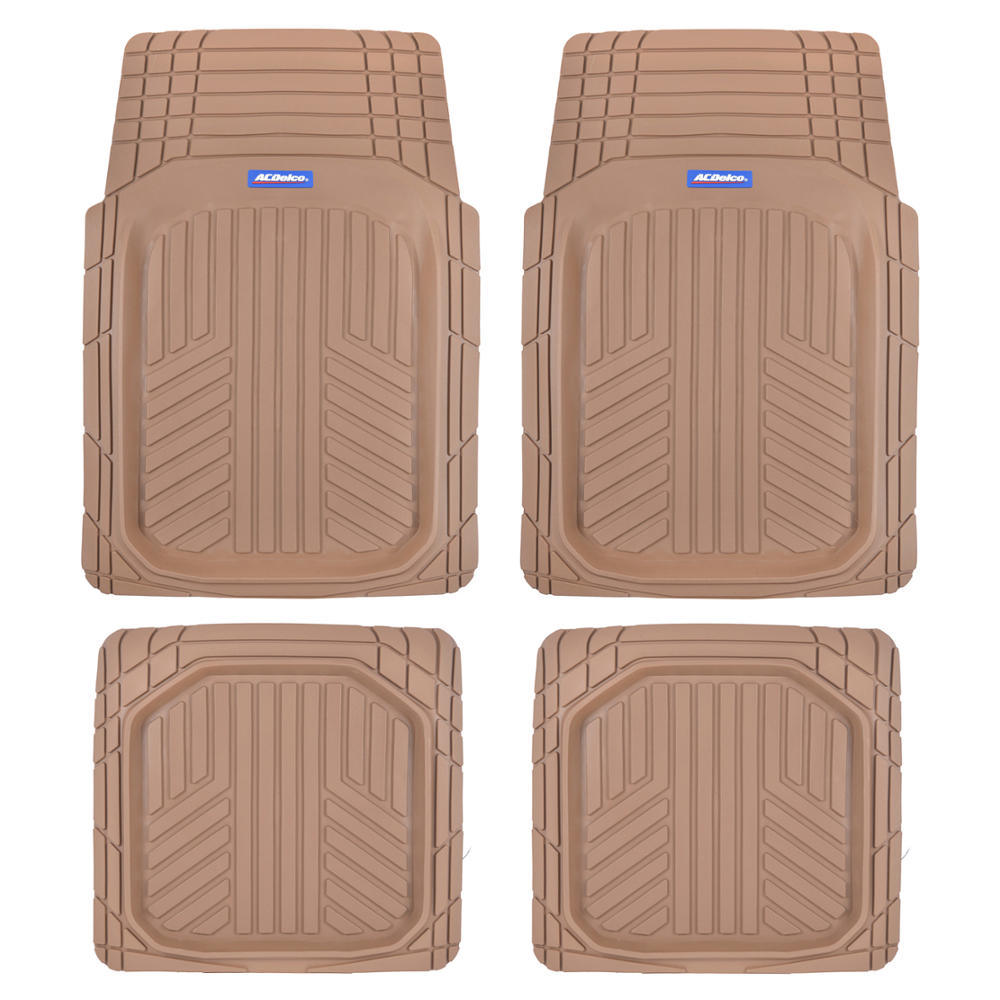 4pc Universal Black Rubber All Weather Front /& Rear Floor Mats for Honda Civic