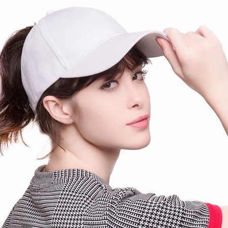 5d078a4d7db 2018 New Fashion Ponytail Baseball Cap Women Messy Bun Caps Adjustable  Snapback Trucker Cotton Dad Hats Sports Outdoor - White - Walmart.com