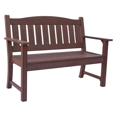 Huntington Outdoor Plastic Bench   Chateau Brown