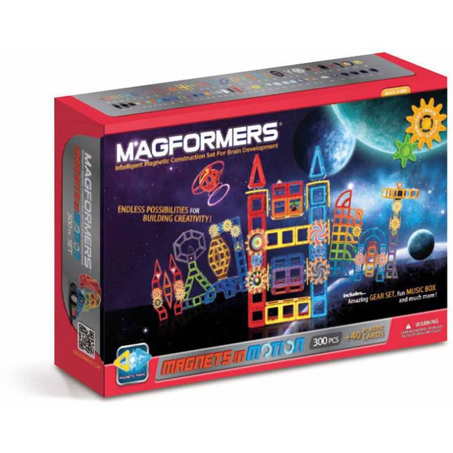 Magformers Magnets in Motion Power 300-Piece Magnetic Construction Set by Magformers