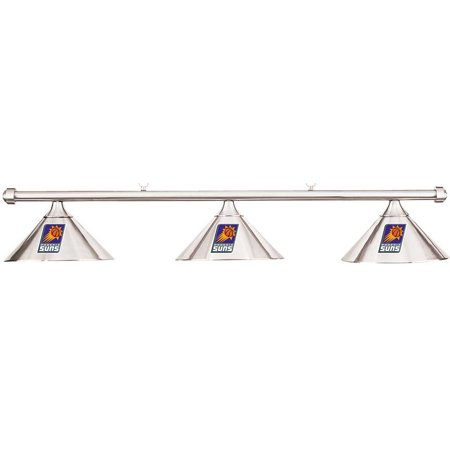 NBA Phoenix Suns Chrome Metal Shade & Chrome Bar Billiard Pool Table Light by