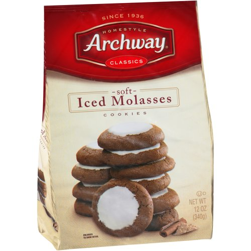 Archway Soft Iced Molasses Cookies, 12 oz