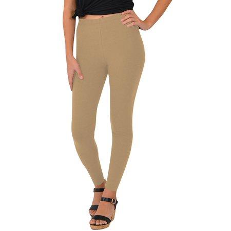 Women's Leggings - Large (8-10) / Beige