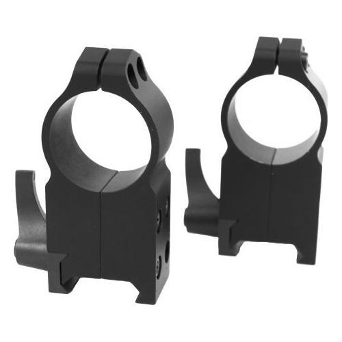 Warne 1in Quick Detach AR15 Flat Top Riflescope Rings, Ultra High Profile, Matte