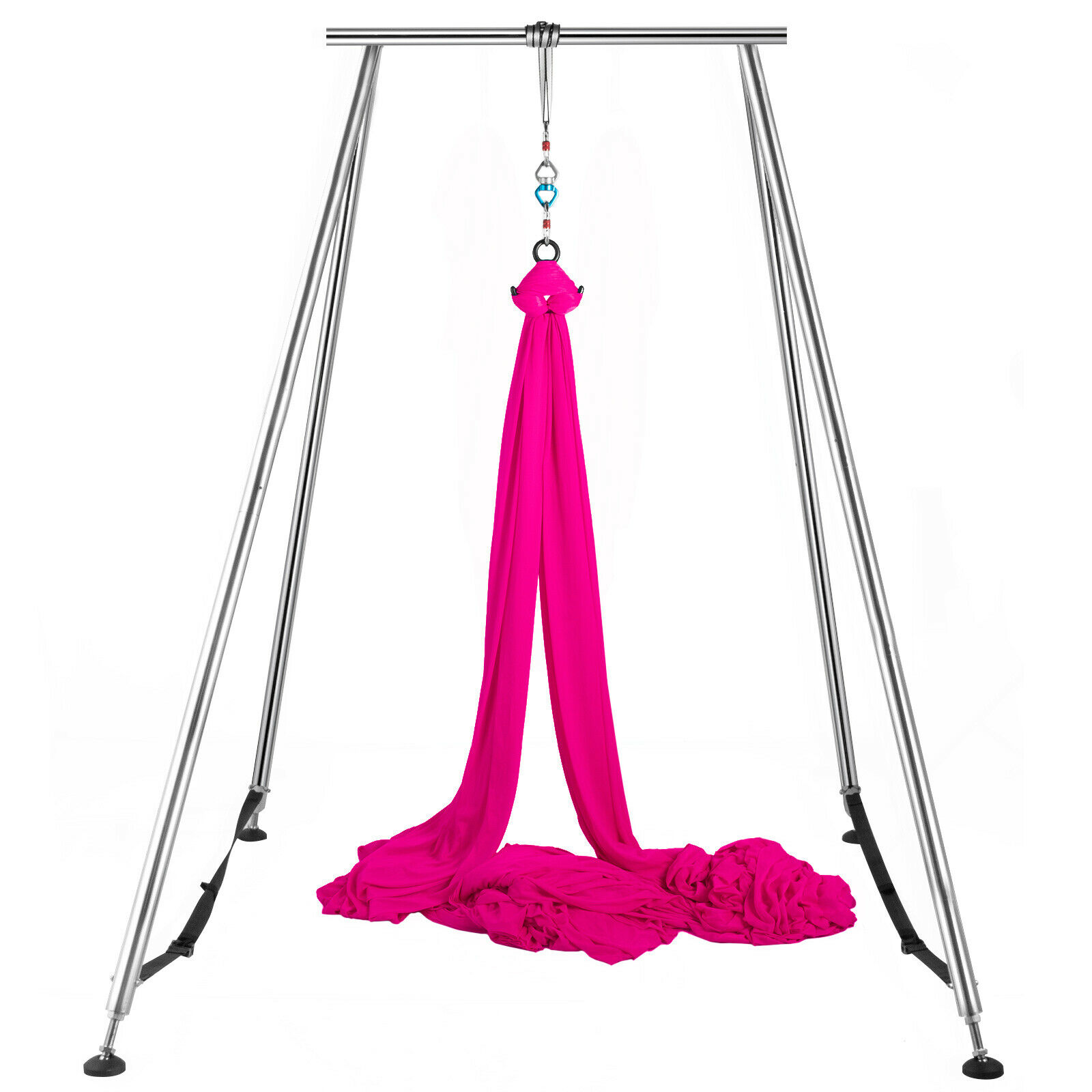 Details about  /Portable Aerial Yoga Frame Yoga Stand Steel Pipe Yoga Swing Stand Fitness Gym