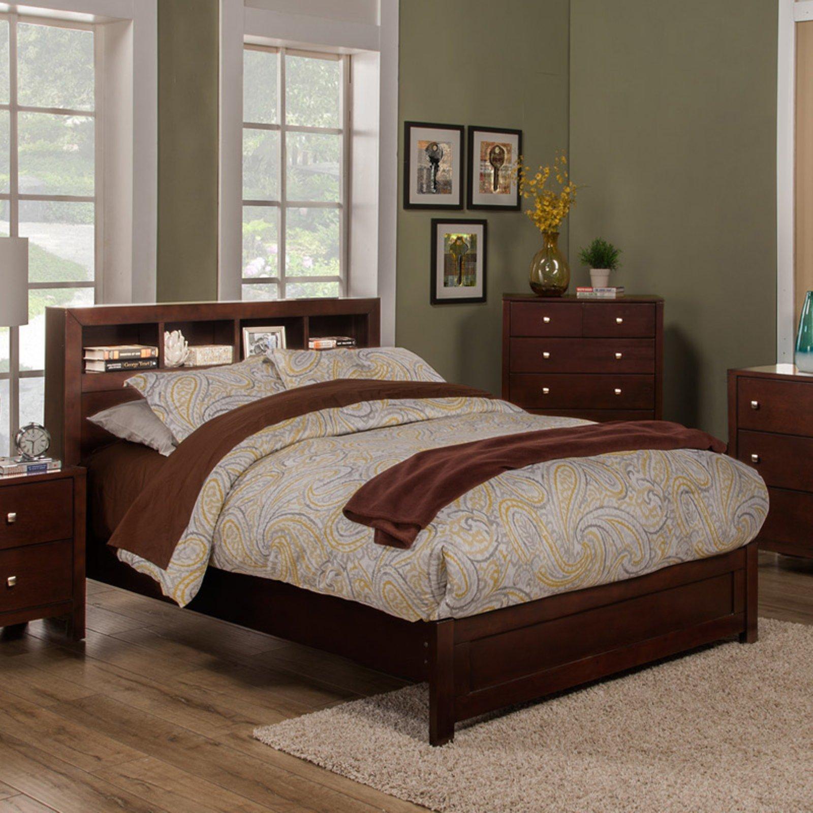 Alpine Furniture Solana Bookcase Platform Bed