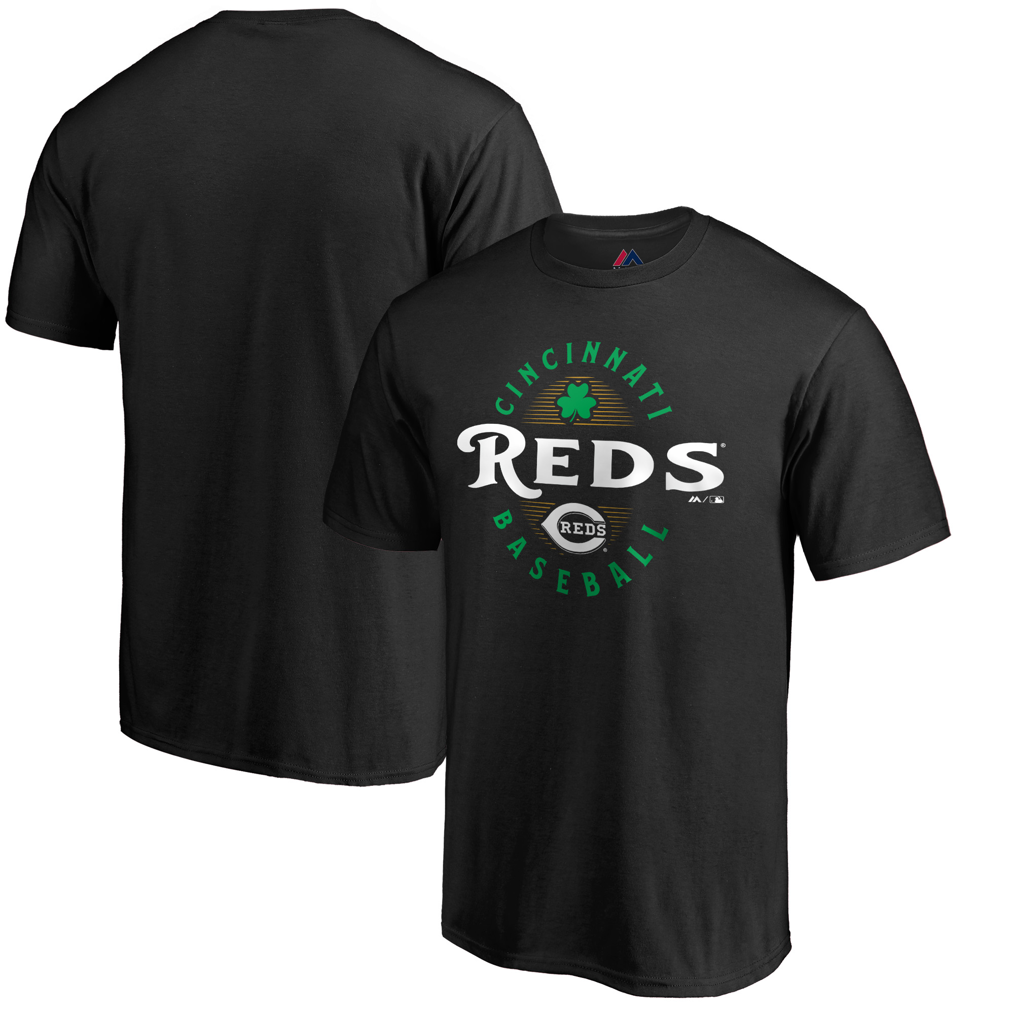 Cincinnati Reds Majestic Forever Lucky T-Shirt - Black