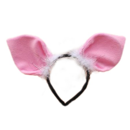 TopTie Cute Headbands Plush Headwear Party Accessories Halloween Costume-Pig - Halloween Pumpkin Headbands