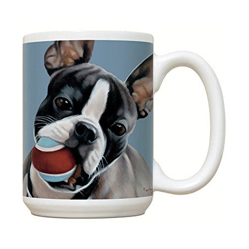 Boston Terrier Mug - Large White Coffee Mug