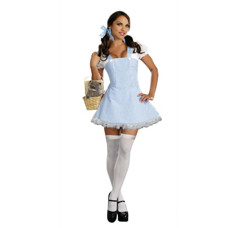 Dreamgirl Womens Sexy Blue And White Gingham Dress Costume](Chicken Wire Halloween Dresses)