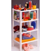 Four Tier Shelf Stand, White, Storage and Home Organization