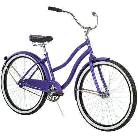 """Huffy 26"""" Cranbrook Women's Comfort Cruiser Bike, Violet"""