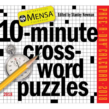 Mensa 10 Minute Crossword Puzzles Page A Day Calendar 2018