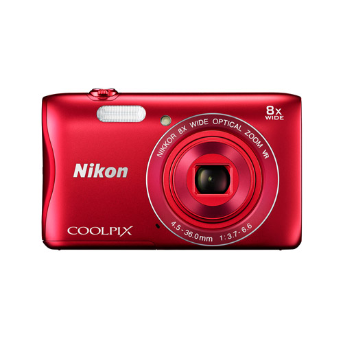 Nikon COOLPIX S3700 Digital Camera with 20.1 Megapixels and 8x Optical Zoom