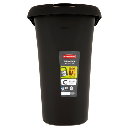 Rubbermaid Liner Lock Fits Lid Spring Top 8 Gal Trash Can Walmart Com