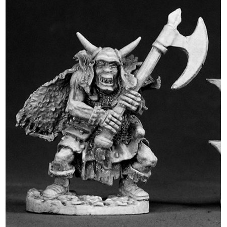Reaper Miniatures Ferach Orc Warlord #02318 Dark Heaven Legends D&D Mini Figure