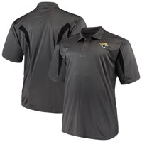 Men's Majestic Charcoal Jacksonville Jaguars Big & Tall Pieced Polo