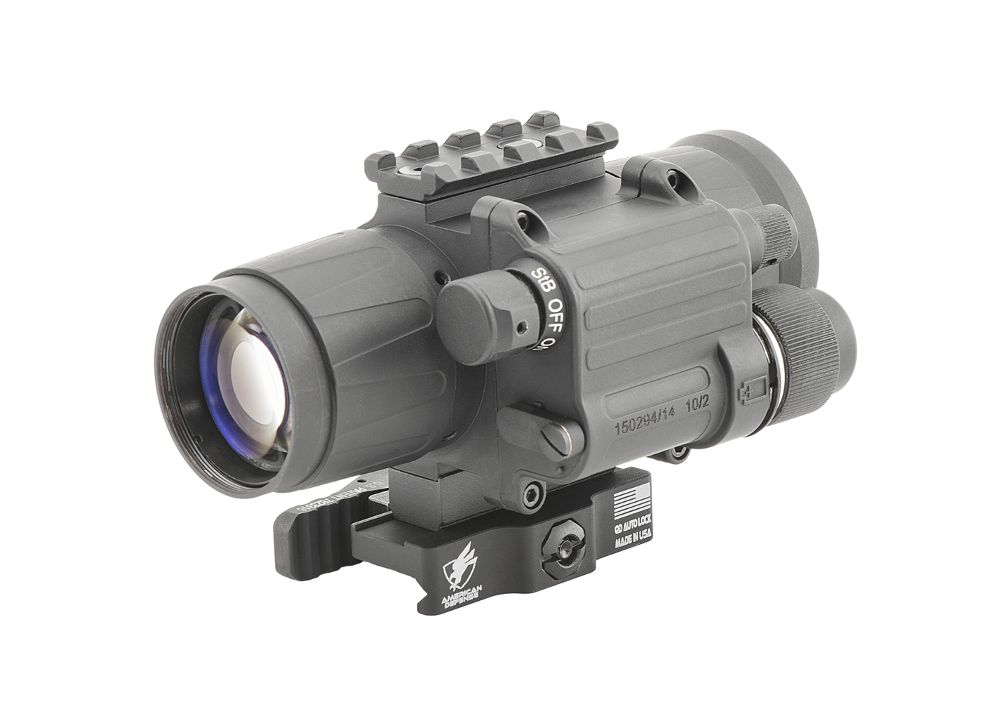 CO-Mini QS MG Night Vision Mini Clip-On System Gen 2 Quick Silver White Phosphor with Manual Gain by Armasight