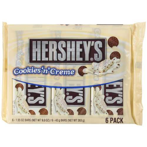 Hershey's White Chocolate Cookies N Creme, 6 Ct