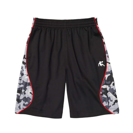 AND1 Boys' Polyester Fly Dunk Camo Basketball Gym & Workout Shorts