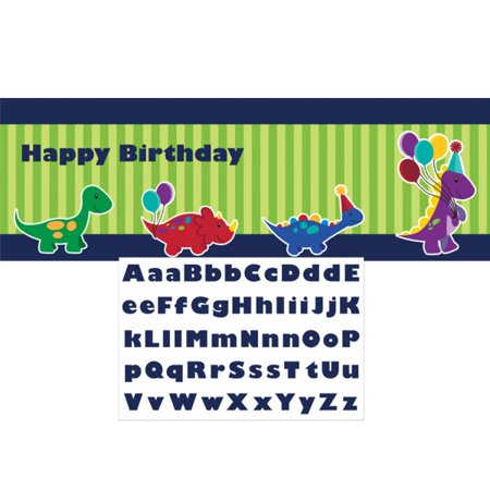 Little Dino Happy Birthday Giant Party Banner - Little Dino Party Supplies