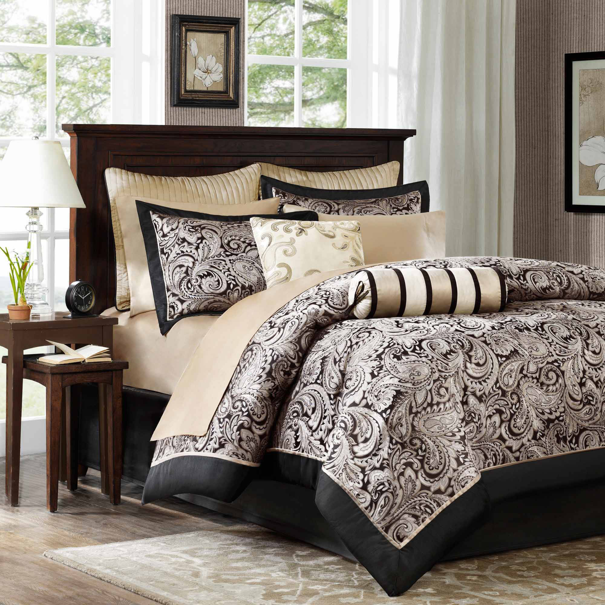 Home Essence Wellington 12-Piece Jacquard Comforter Set