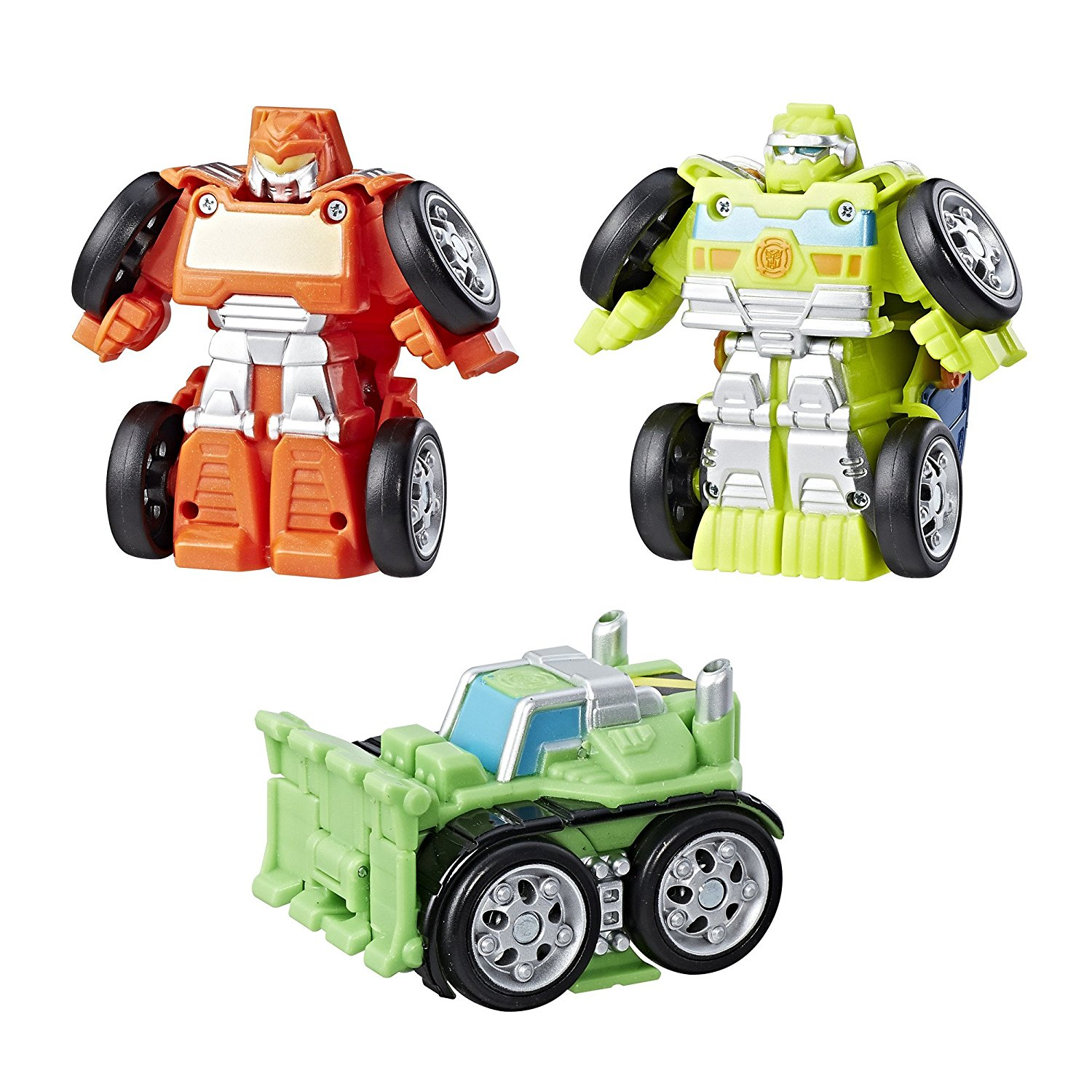 Heroes Transformers Rescue Bots Flip Racers Griffin Rock Construction Team, Includes... by