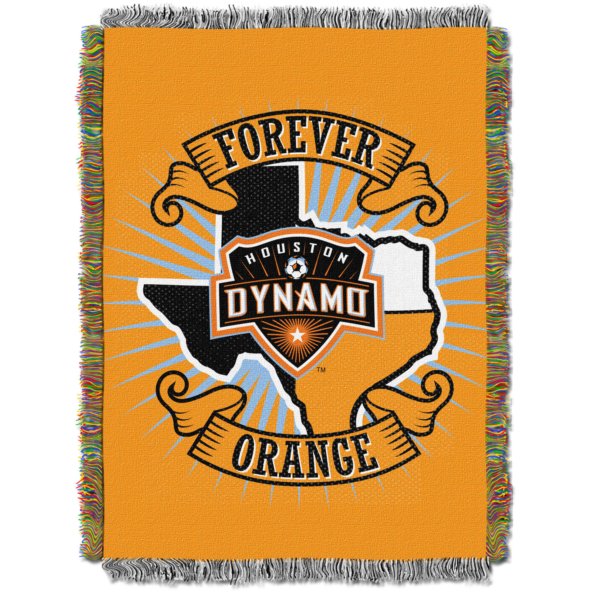 "MLS Houston Dynamo Handmade 48"" x 60"" Woven Tapestry Throw"