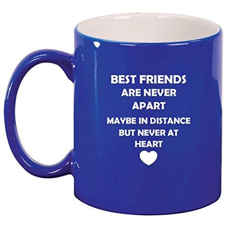 Ceramic Coffee Tea Mug Cup Best Friends Long Distance Love