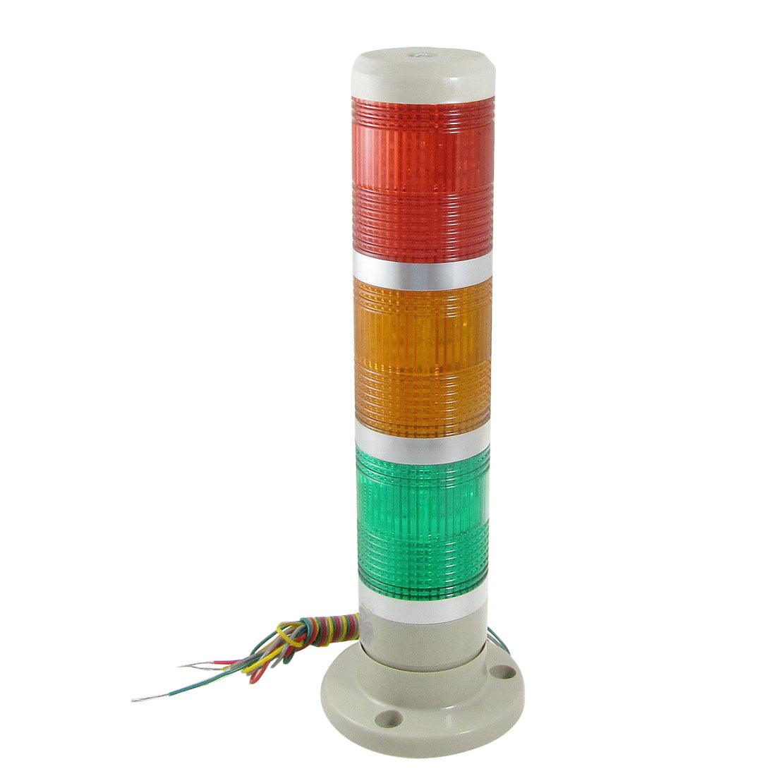 24V AC/DC rouge jaune vert Signal LED Lampe lumière avertissement tour industrielle - image 1 de 1