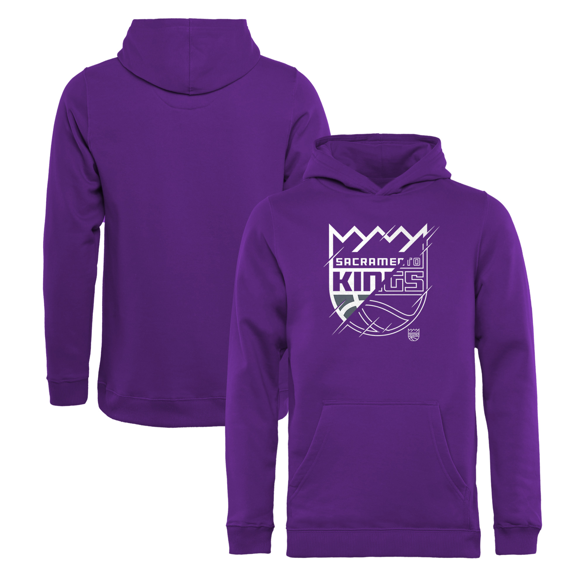 Sacramento Kings Fanatics Branded Youth X-Ray Pullover Hoodie - Purple