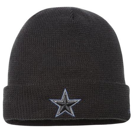 Dallas Cowboys New Era Pop Waffler Cuffed Knit Beanie - Black - OSFA (Dallas New Era Beanie)