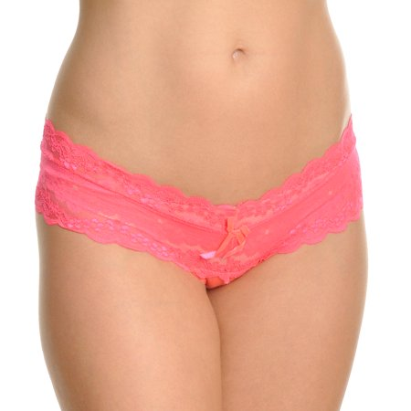 Angelina Extra Wide Band Floral Lace Thongs (12-Pack)