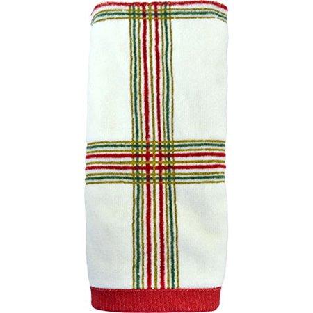 LENOX HOLIDAY NOUVEAU PLAID FINGERTIP TOWEL (Lenox Platinum Towel)