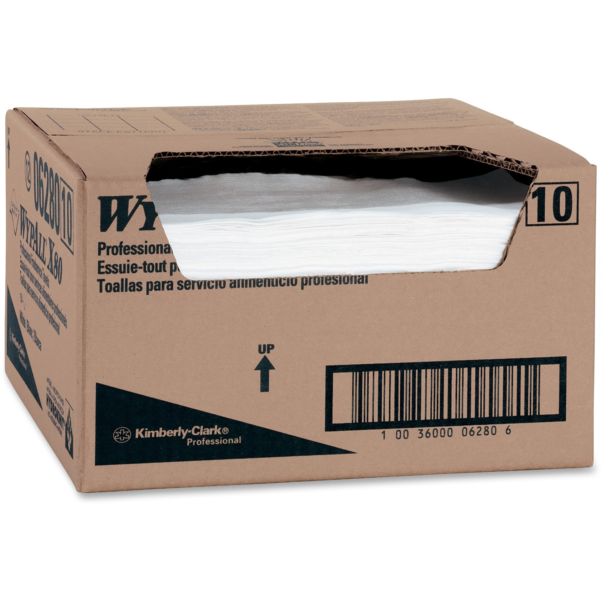 Wypall, KCC06280, X80 Foodservice Towels, 150 / Carton, White
