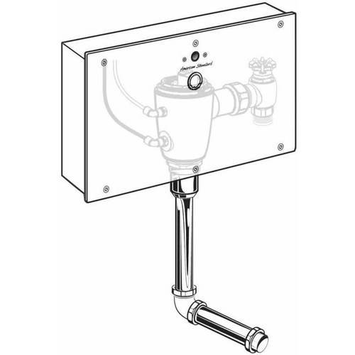 American Standard 6062.505.007 Selectronic Concealed 0.5 GPF Urinal AC Powered Flush Valve with Wall Box, Rough Brass