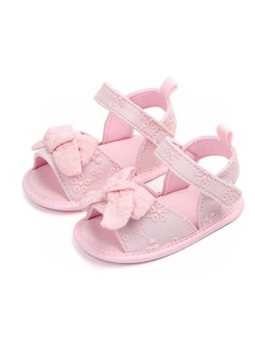 Summer Baby Girl Cute Sandals Soft Sole Anti-slip Bow-knot Crib Shoes First Walkers Walking Shoes