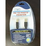 Quantaray USB 2.0 Printer Cable 6ft