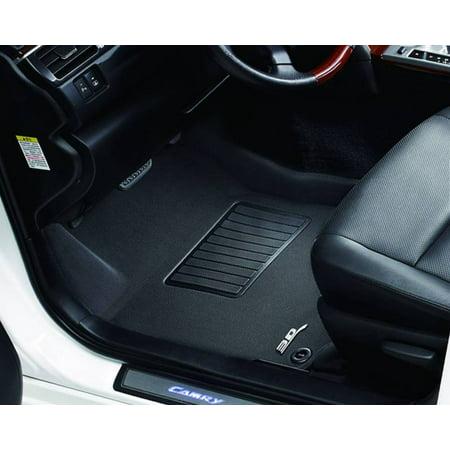 3D MAXpider 2009-2017 Audi Q5 Kagu 1st Row Black Carbon Fiber Embossed Pattern Floor Mat L1AD00911509 (Audi Front Floor Mat)