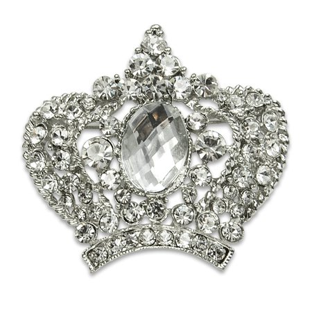 Expo Int'l Royal Crown Rhinestone Brooch